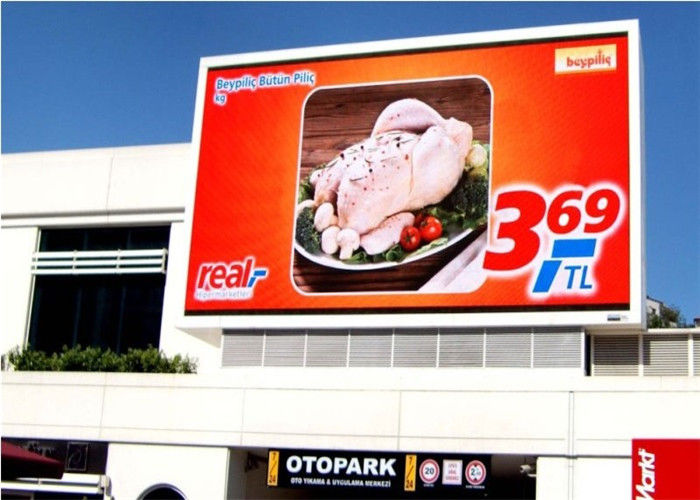 Full Color Front Service LED Display RGB , Weather Resistant Hd Led Screen For Advertising