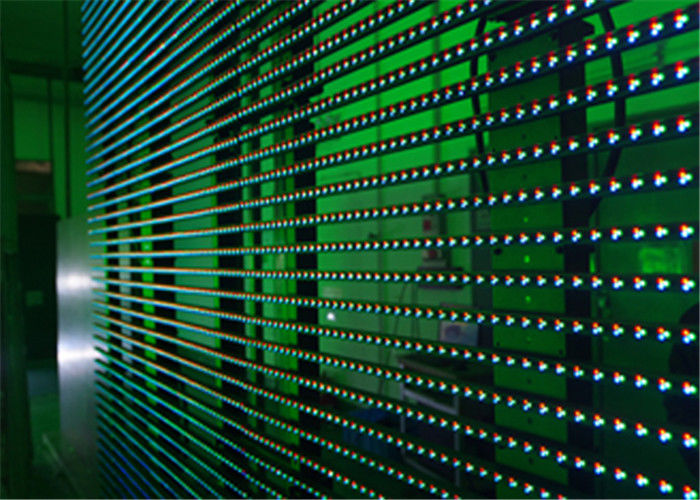 Flexible LED Video Display Screens , Strips Transparent Wall Facades Screens